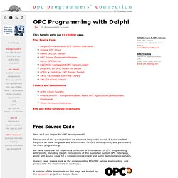 OPC Programming with Borland Delphi