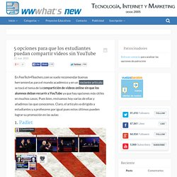 5 opciones para que los estudiantes puedan compartir videos sin YouTube
