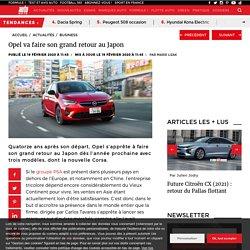 Opel va faire son grand retour au Japon