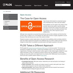 Open Access - PLOS