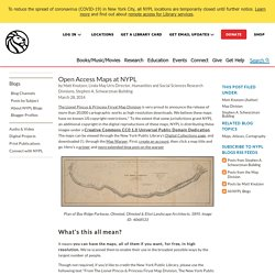 Open Access Maps at NYPL