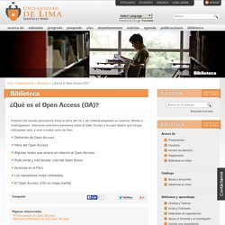 El Open Access (U Lima)