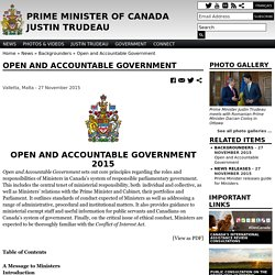 Open and Accountable Government