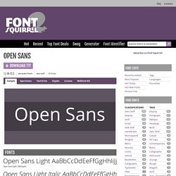Free Font Open Sans by Ascender Fonts