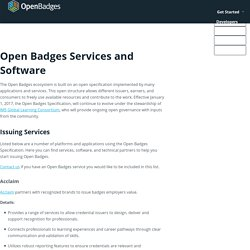 Open Badges Services and Software
