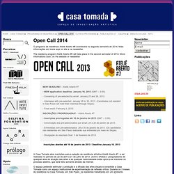 Open Call 2013 « Casa Tomada