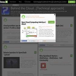 Open Cloud Computing Interface |  About | Behind the Cloud...