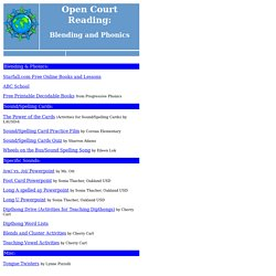 Open Court - Blending and Phonics