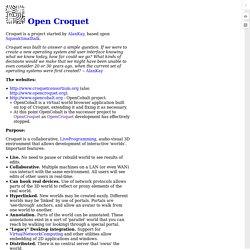 Open Croquet