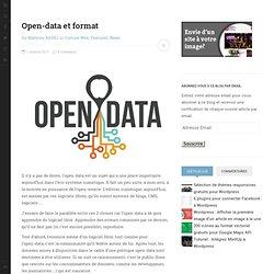 Open-data et format - Kune.fr