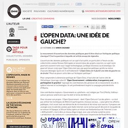 L'Open Data: une idée de gauche? » Article » OWNI, Digital Journalism