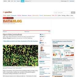 Open data journalism | News