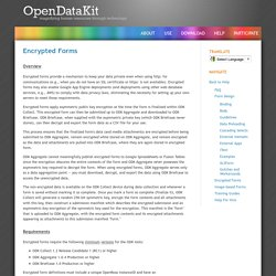 Open Data Kit » Encrypted Forms