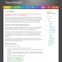 Open Data Kit » Form Design