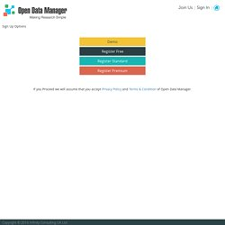 Open Data Manager - Open Data tool for Open Data Researchers