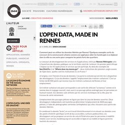 L'open data, made in Rennes