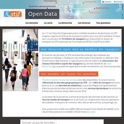 Open data STIF — Page accueil - Portail Open data STIF