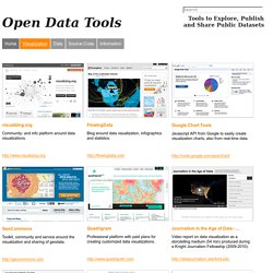 Open Data Tools - Visualization