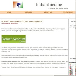How to open Demat account in Sharekhan
