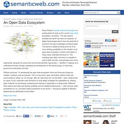 An Open Data Ecosystem