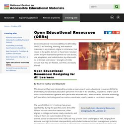 AEM: Open Educational Resources (OERs)