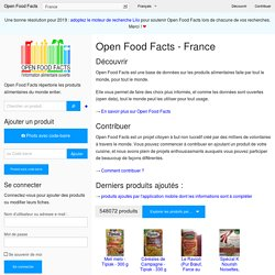 Bienvenue sur Open Food Facts