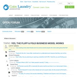Open Forum - Coin Laundry Association