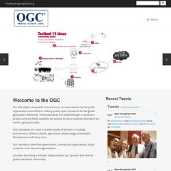 Welcome to the OGC Website