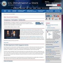 Open Government Initiative