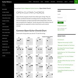 Common Open Guitar Chords