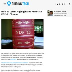 How To Open, Highlight and Annotate PDFs in Chrome
