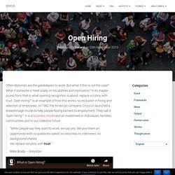 Open Hiring – MIRVA