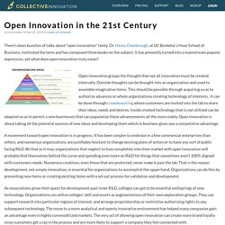 Open Innovation in the 21st Century