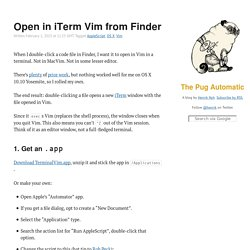 Open in iTerm Vim from Finder - The Pug Automatic