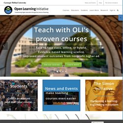 Carnegie Mellon University's Open Learning