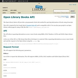 Open Library Books API