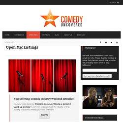 Open Mic Listings