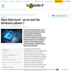 Open Data local : où en sont les territoires pilotes ?