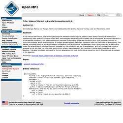 State-of-the-Art in Parallel Computing with R