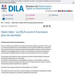 Open data : La DILA ouvre 4 nouveaux jeux de données