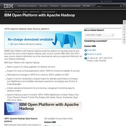 Open Platform with Apache Hadoop