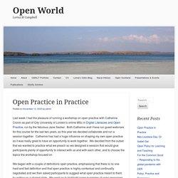 Open Practice in Practice
