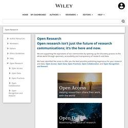 Wiley : politique Open access
