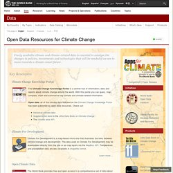 Open Data Resources for Climate Change