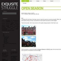 Open Season @ Exquisite Struggle