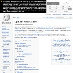 Open Shortest Path First - Wikipedia