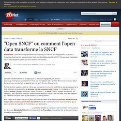 """""""Open SNCF"""" ou comment l'open data transforme la SNCF"""