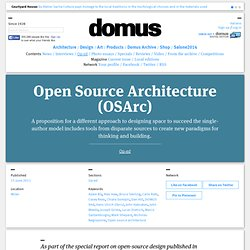 Open Source Architecture (OSArc) - Op-Ed