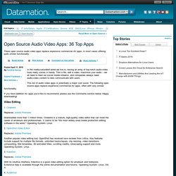 Open Source Audio Video Apps: 36 Top Apps