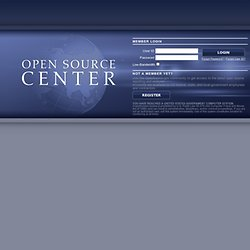 Open Source Center - Login
